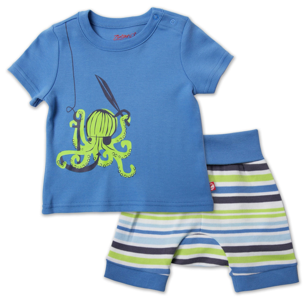 Zutano baby Set Crocodile Baby Crewneck Set