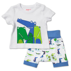 Zutano baby Set Crocs Screen Crewneck Set