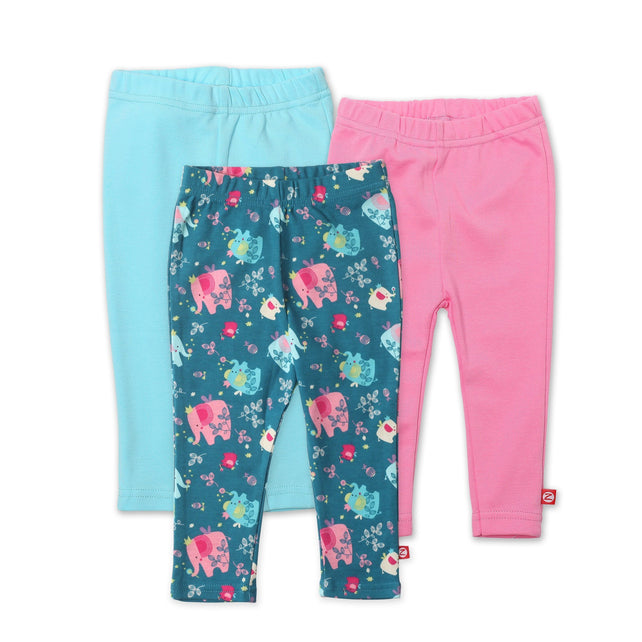 Zutano baby Set Fairy Elephants Legging 3-Pack