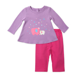 Zutano baby Set Fairy Elephants Swing Top 2-Piece Set