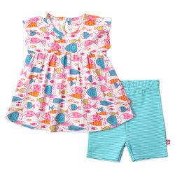 Zutano baby Set Fish Dress Set