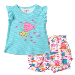 Zutano baby Set Fish Flutter Top Set
