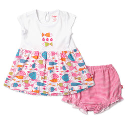 Zutano baby Set Fish Summer Dress Set