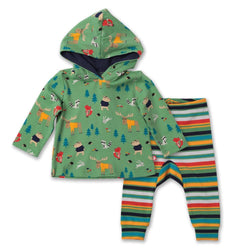 Zutano baby Set Forest Hoodie & Jogger Set