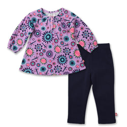 Zutano baby Set Geo Flower Dress Set