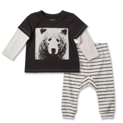Zutano baby Set Grizzly Bear Jogger Set