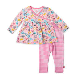 Zutano baby Set Happy Cat Peasant Top 2-Piece Set