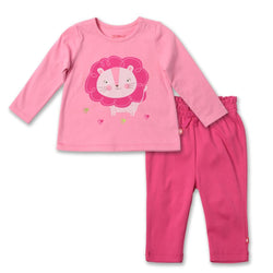 Zutano baby Set Lion Screen Crew Neck Set