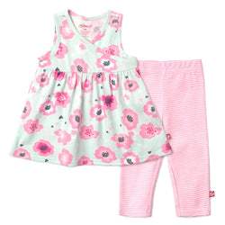 Zutano baby Set Poppy Surplice Dress Set