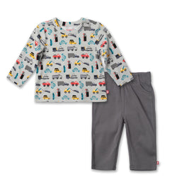 Zutano baby Set Traffic Crew Neck Set