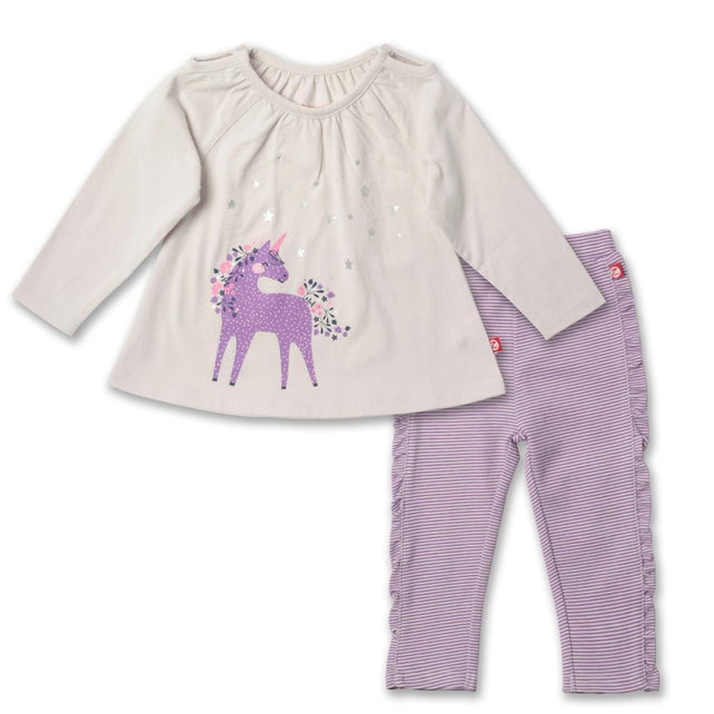 Zutano baby Set Unicorns Peasant Top Set