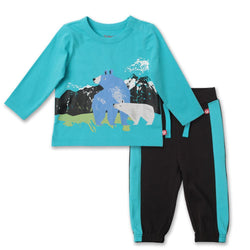 Zutano baby Set Wilderness Crew Neck Set