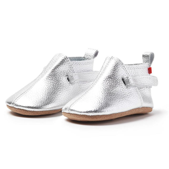 Zutano baby Shoe Silver Leather Baby Shoe