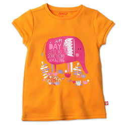 Zutano baby Top Amazing Day Cap Sleeve Tee