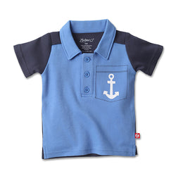 Zutano baby Top Anchor Pocket Polo
