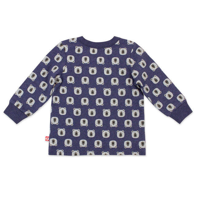 Zutano baby Top Bears Organic Cotton Long Sleeve Crewneck