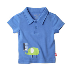 Zutano baby Top Big E Screen Polo Shirt