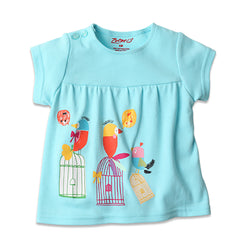 Zutano baby Top Bird Song S/S Peasant Top