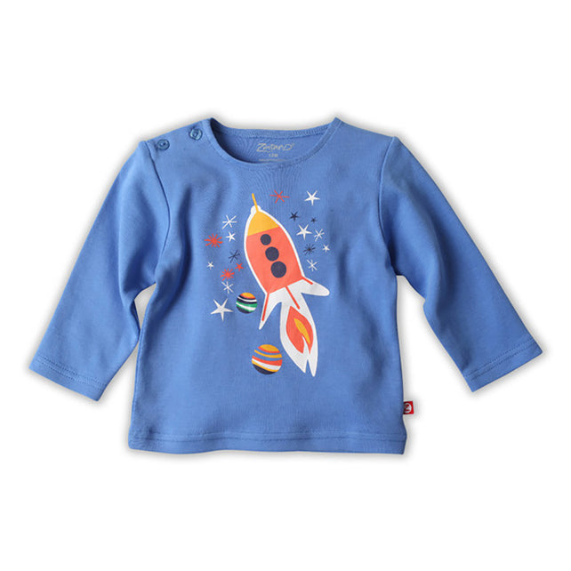 Zutano baby Top Blast Off Baby L/S Screen Tee