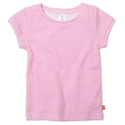Zutano baby Top Candy Stripe Cap Sleeve Tee - Hot Pink
