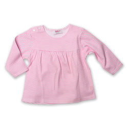 Zutano baby Top Candy Stripe Peasant Top - Hot Pink