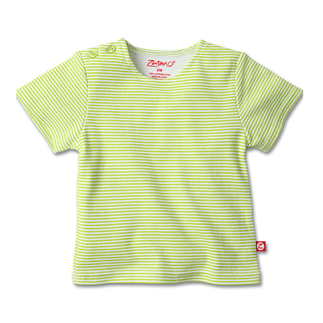 Zutano baby Top Candy Stripe S/S Tee - Lime