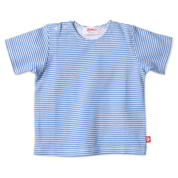 Zutano baby Top Candy Stripe S/S Tee - Periwinkle