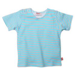 Zutano baby Top Candy Stripe S/S Tee - Pool