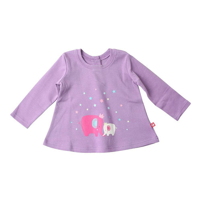 Zutano baby Top Fairy Elephant Screen L/S Swing Top