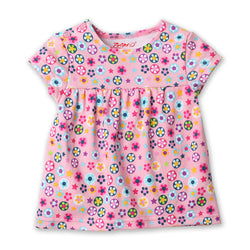 Zutano baby Top Flower Shower S/S Peasant Top