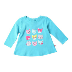 Zutano baby Top Happy Cats L/S Swing Top