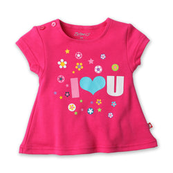 Zutano baby Top I Heart U Screen Swing Tee