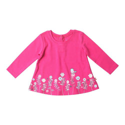 Zutano baby Top Little Birds Screen L/S Swing Top