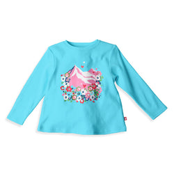 Zutano baby Top Mountain Bouquet L/S Swing Tee