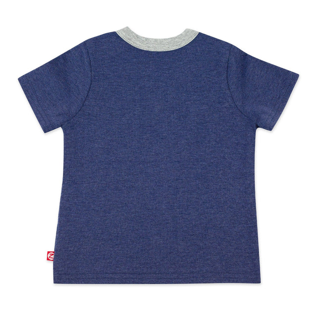 Zutano baby Top Organic Cotton Pocket Tee - True Navy Heather