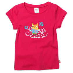 Zutano baby Top Owls Nest Cap Sleeve Tee