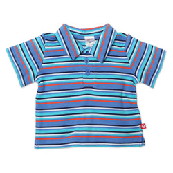 Zutano baby Top Periwinkle Multi Stripe Polo Shirt