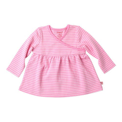 Zutano baby Top Pink Stripe Wrap Peasant Top