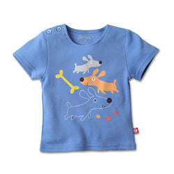 Zutano baby Top Puppies Fetch Screen Tee