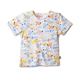 Zutano baby Top Puppies Print Tee