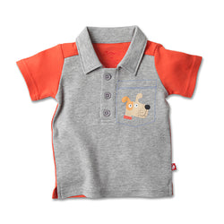 Zutano baby Top Puppy Pocket Polo Shirt