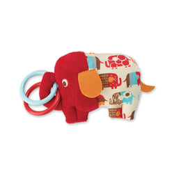 Zutano baby Toy Elephant Parade Print Ring Rattle