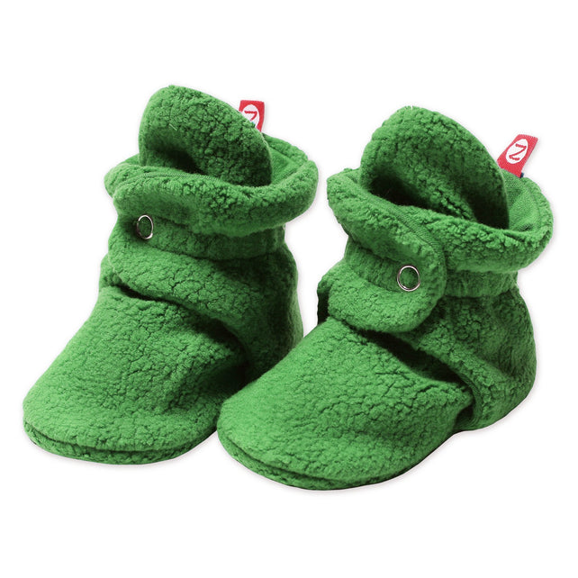 Zutano Bootie Cozie Fleece Non Gripper Baby Bootie - Apple