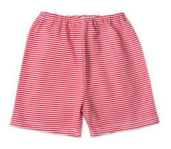 Zutano Bottom Candy Stripe Shorts - Red