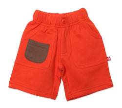 Zutano Bottom French Terry Big Pocket Short - Mandarin
