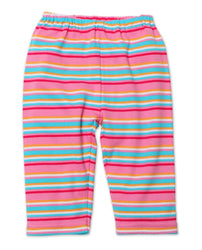 Zutano Bottom Multi Stripe Baby Pants - Hot Pink