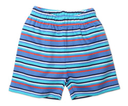 Zutano Bottom Periwinkle Stripe Shorts
