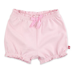 Zutano Bottom Solid Ruffle Short - Baby Pink