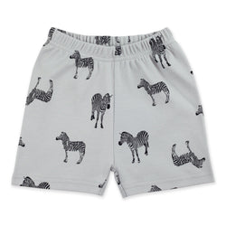 Zutano Bottom Zebra Short - Light gray