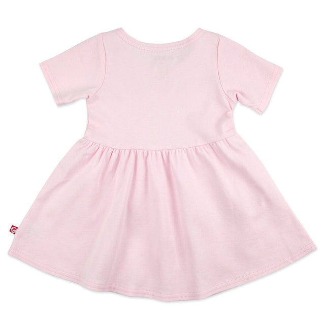 Zutano Dress Organic Cotton Forever Dress - Baby Pink